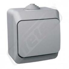 Zásuvka CEDAR WDE000640 jedn.šedá IP44