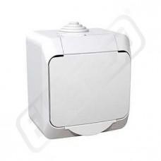 Zásuvka CEDAR WDE000540 jedn.bílá IP44