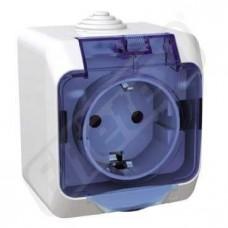 Zásuvka CEDAR WDE000543 jedn.bílá IP44