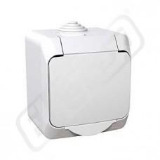 Zásuvka CEDAR WDE000541 jedn.bílá IP44