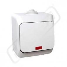 Spínač CEDAR WDE000514 č.1S bílá IP44