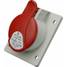 Zásuvka vestavná IP54, 32A, 4-pól