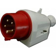 Nástěnná přívodka IP44, 32A, 5-pól