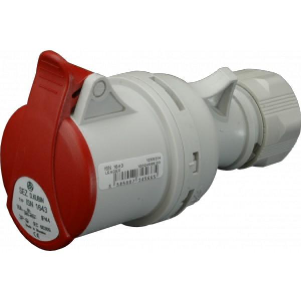 Spojovací zásuvka IP44, 16A, 4-pól