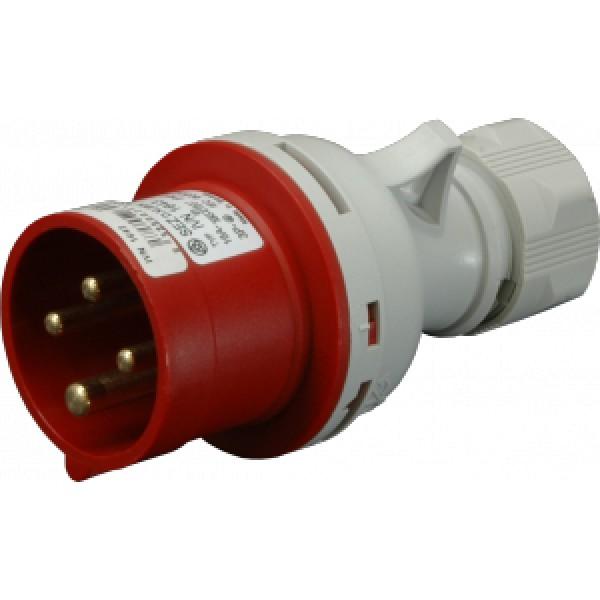 Vidlice průmyslová IP44, 16A, 4-pól