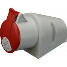 Nástěnná zásuvka bezšroubová IP44, 32A, 5-pól