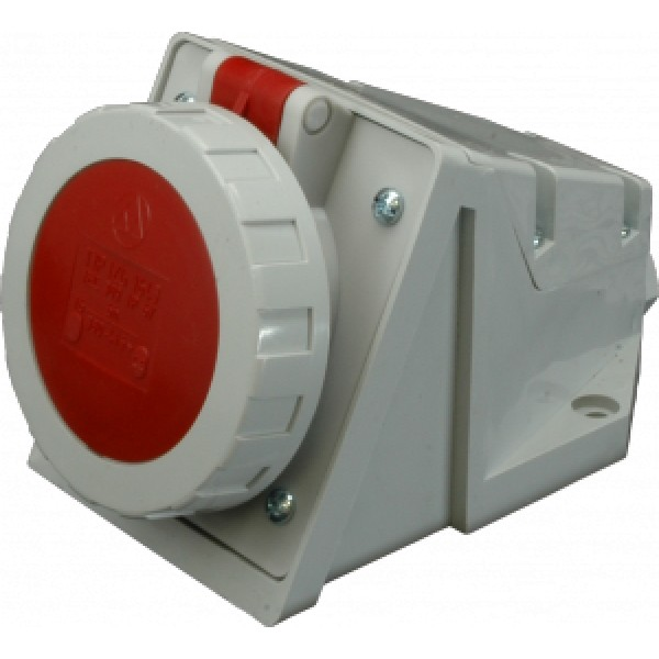 Nástěnná zásuvka IP67, 32A, 4-pól