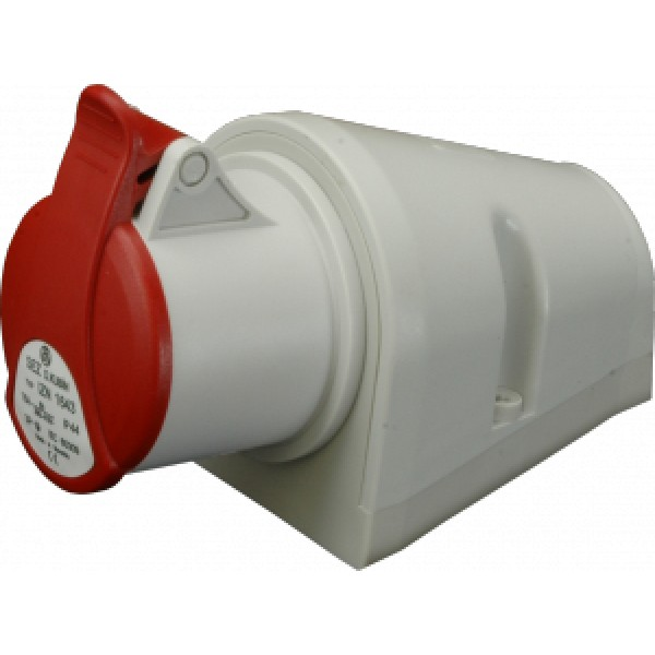 Nástěnná zásuvka IP44, 16A, 4-pól