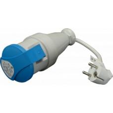 Šňůrový adapter z vidlice 230V na zásuvku 16A3p
