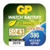 Knoflíková baterie do hodinek GP 386F, krabička