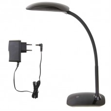 LED stolní lampa MA66 černá s USB, ohebná