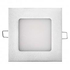 LED panel 120×120, vestavný stříbrný, 6W neutrální bílá