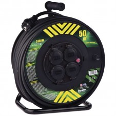 Gumový prodlužovací kabel na bubnu - 4 zásuvky 50m