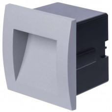 LED orientační vestavné svítidlo 90×90, 1W teplá bílá IP65