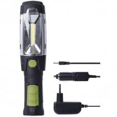 Nabíjecí svítilna LED P4518, 3W COB + 6x LED