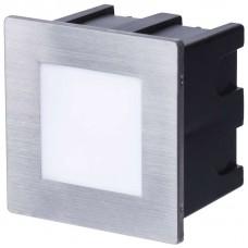 LED orientační vestavné svítidlo 80×80, 1,5W teplá bílá IP65
