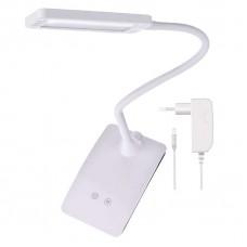 LED stolní lampa Eddy, bílá