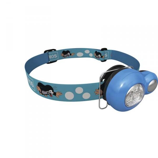 Dětská čelovka - Krtek na 2x CR2032, 3x LED, 8 ks