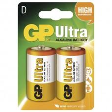 Alkalická baterie GP Ultra LR20 (D), blistr