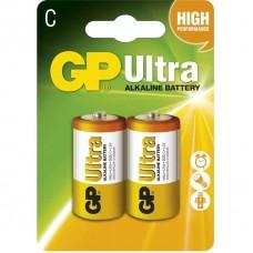 Alkalická baterie GP Ultra LR14 (C), blistr