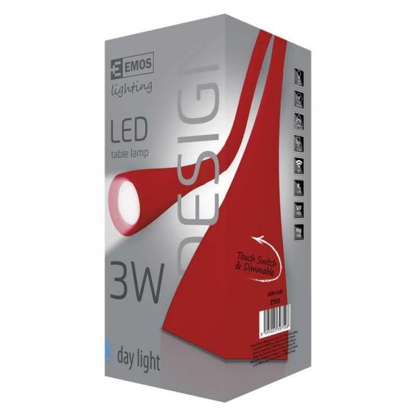 LED stolní lampa DEL-1211R červená