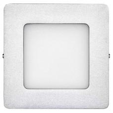 LED panel 120×120, přisazený stříbrný, 6W neutrální bílá
