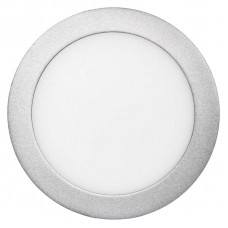 LED panel 170mm, kruhový přisazený stříbrný, 12W neutr. bílá