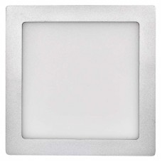 LED panel 224×224, přisazený stříbrný, 18W neutrální bílá