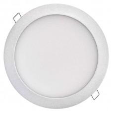 LED panel 225mm, kruhový vestavný stříbrný, 18W neutr. bílá