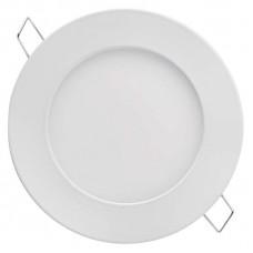 LED panel 120mm, kruhový vestavný bílý, 6W neutrální bílá