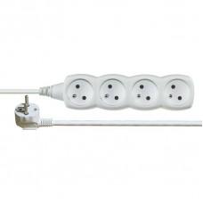 Prodlužovací kabel  4 zásuvky 7m, bílý