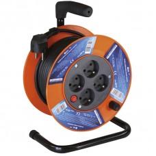 PVC prodlužovací kabel na bubnu - 4 zásuvky 15m