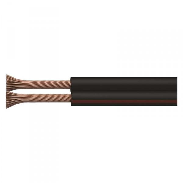 Dvojlinka ECO 2x1,0mm, černo/rudá, 100m