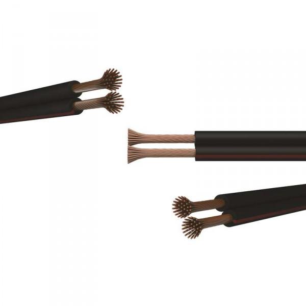 Dvojlinka nestíněná 2x0,35mm černo/rudá, 100m