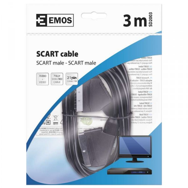 AV kabel SCART - SCART 3m