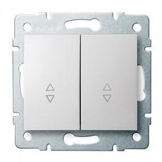 LOGI Schodišťový vypínač č. 6+6 dvojitý bílý