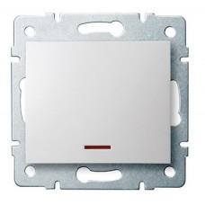 LOGI Jednopólový vypínač s LED - bílý