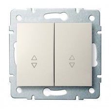 LOGI Schodišťový vypínač č. 6+6 dvojitý krémový