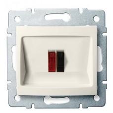 LOGI Reproduktorová zásuvka samostatná - krémová
