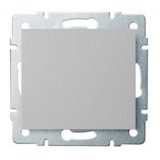 LOGI Jednopólový vypínač - č. 1 stříbrný