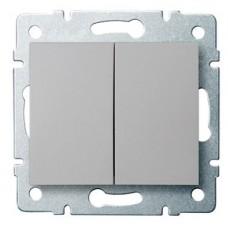 LOGI Dvojité tlačítko - 1/0 + 1/0 - stříbrná