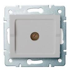 LOGI Anténní zásuvka typu F průběžná - stříbrná
