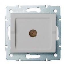 LOGI Anténní zásuvka typu F koncová stříbrná