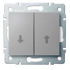 LOGI Žaluziové tlačítko - stříbrné