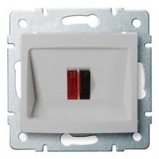 LOGI Reproduktorová zásuvka samostatná - stříbrná
