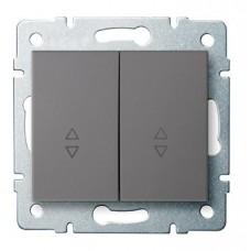 LOGI Schodišťový vypínač č. 6+6 dvojitý grafit