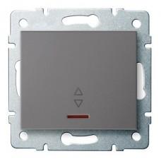 LOGI Schodišťový vypínač s LED - grafit