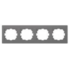 LOGI Čtyřnásobný horizontální rámeček grafit