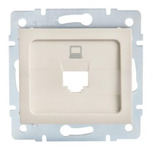 LOGI Adaptér datové zásuvky 1xRJ45 - krémový