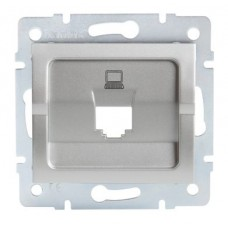 LOGI Adaptér datové zásuvky 1xRJ45 - stříbrná